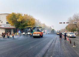 东光县府前大街罩面工程